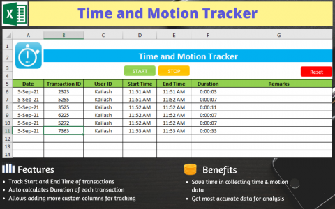 Time and Motion Tracker