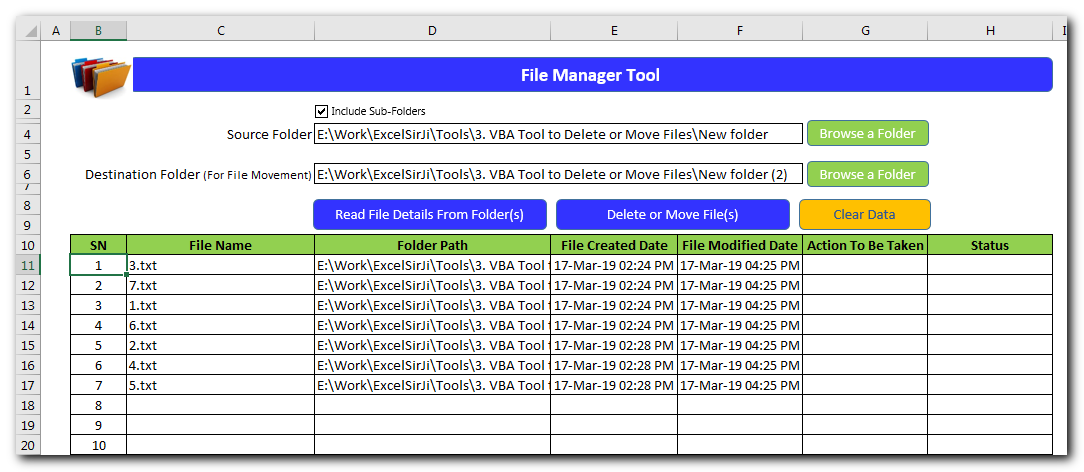 File Manager Tool